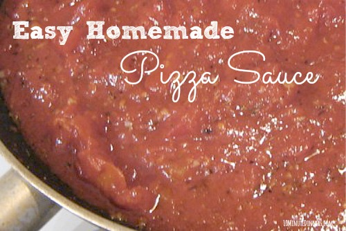Easy Homemade Pizza Sauce