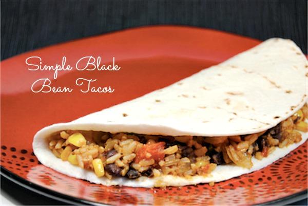 Simple Black Bean Tacos - love making in bulk