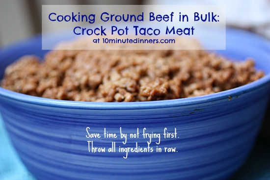 Cook Ground Beef in Crock Pot Taco Meat Kitchen Tip: Cooking Ground Beef in the Crock Pot