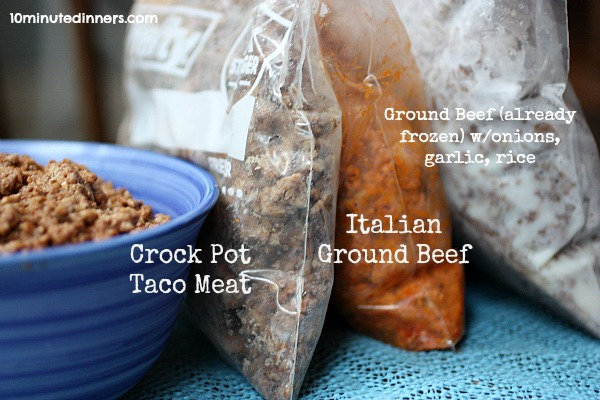 Cooking Ground Beef In Bulk Crock Pot Taco Meat 10 Minute Dinners