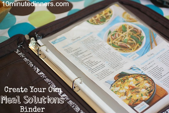 Create a meal solutions notebook creating your own meal solutions notebook welcome forumfinder Image collections