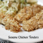 Easy Sesame Chicken Tenders @10minutedinners.com
