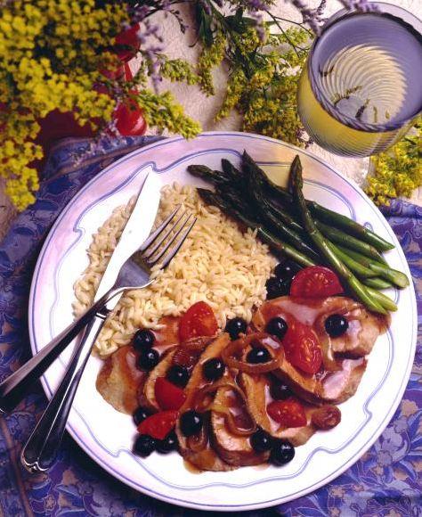 Pork Tenderloin with Blueberry Sauce