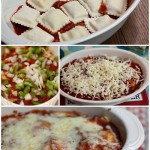 Easy and Delicious Ravioli Bake with optional veggies @10minutedinners